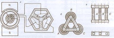 Трехфазный трансформатор Доливо-Добровольского