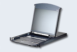 "Переключатель/switch, KVM,  1 local user USB/VGA/DVI-D конс.LCD 19""+32 IP user=>16 cpu/порт/port (PS2/USB/Sun+VGA)/RS232, без модулей, 1920x1200 60Hz(50м/IP), 1U 19"", исп.спец.модули и UTP, OSD, не каскад, лат/рус.клав., (креп. DUAL RAIL;гар. 5 лет)"