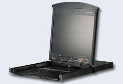 "Переключатель/switch, KVM,  1 user PS2/USB/VGA консоль LCD 17"" =>16 cpu/портов/port (PS2/USB/Sun+VGA)/RS232, без модулей, 1600x1200 60Hz (40м), 1U 19"", исп.спец.модули и UTP, OSD, каскад 512, лат./рус.клав,(5 лет гар+электростраховка)[ATEN]"