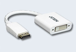 Конвертер/converter, DisplayPort=>DVI Digital, DisplayPort>DVI-I, Male>Female, без Б.П., (1920x1200/1080p HDTV;5 лет гар+электростраховка;ЗАКАЗ!) [ATEN]