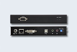Удлинитель/extender, KVM USB, DVI Single Link+KBD&MOUSE USB+AUDIO+RS232, 100 метр., 1xUTP Cat5e/HDBaseT, DVI-D+2xMINIJACK+DB9+USB B-тип>3xUSB A-тип, Female, с KVM-шнуром USB DVI-D 1x1.8м., БП 220> 5V, (макс.разр.1920х1200/100м 60Hz;XD-150;LDX-PLUS-S)